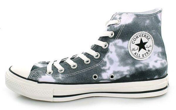Bílo-černé kotníkové tenisky s potiskem Converse
