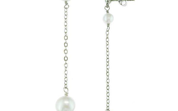 Dámské visací náušnice Orchira s bílými perlami