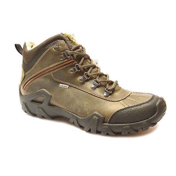 Pánské světle hnědé zimní kotníkové boty Numero Uno