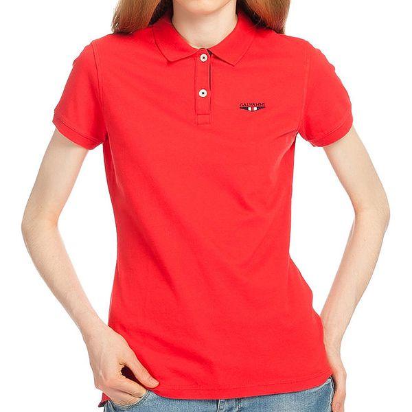 Dámské červené polo tričko Galvanni
