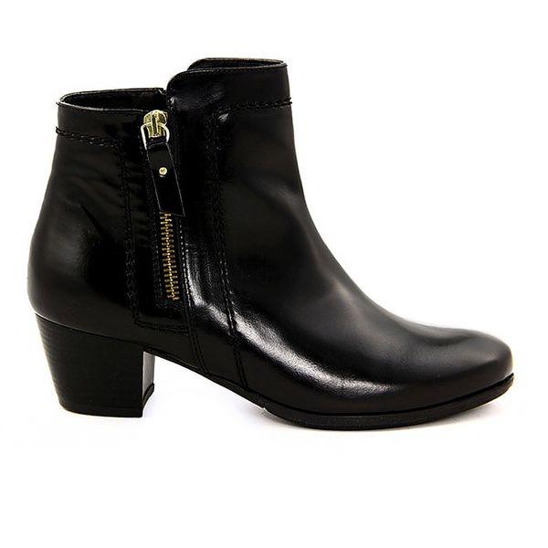 Dámské černé kotníčkové boty se zipy Eye
