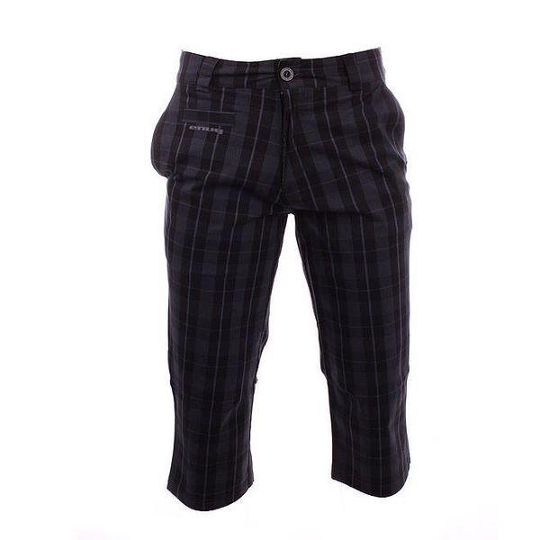 Pánské šedo-černé kostkované 3/4 kalhoty Envy