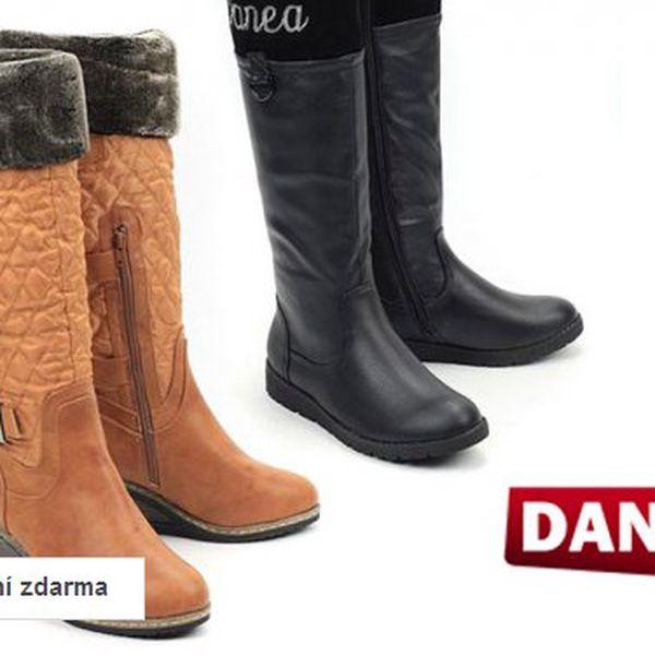 Dámské zateplené kozačky Danea