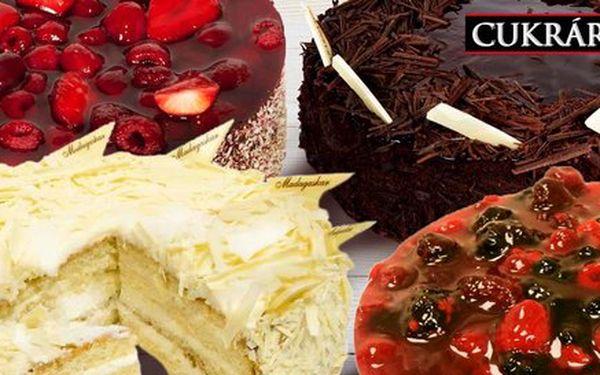Výběr ze 4 dortů z cukrárny Hájek & Hájková