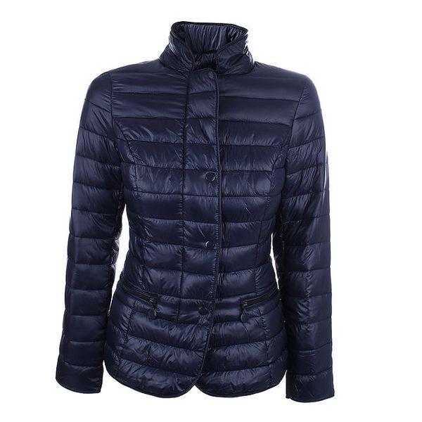 Dámská modrá prošívaná bunda se stojáčkem DJ85°C
