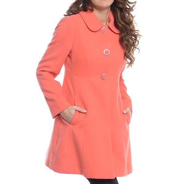 Dámský korálový kabát s kapsami Vera Ravenna