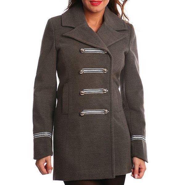Dámský šedý kabát Vera Ravenna