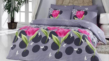 Bavlněné povlečení Badalona růžová