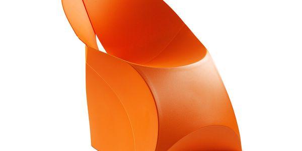 Židle Flux, oranžová