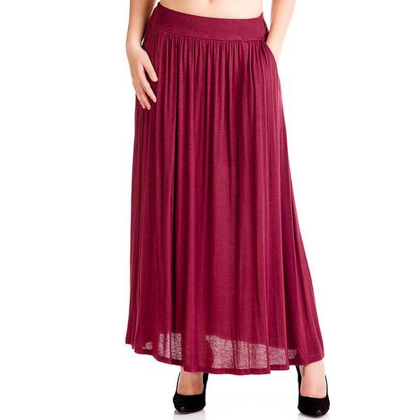 Dámská nařasená sukně v barvě bordó Keysha