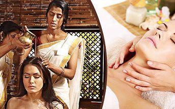 Indická masáž hlavy + antistresová masáž ramen a šíje