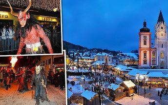 Vydejte se za vánoční atmosférou do rakouského Mariazellu. Odolejte pohledu na 5m vysokou perníkovou chaloupku, obdivujte největší adventní věnec na světě a nenechte si ujít strašidelný rej čertů s alegorickými vozy, pekelnou hudbou a světelnými efekty!