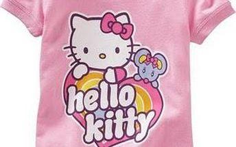 Dívčí triko krátký rukáv Hello Kitty HEART RAINBOW - vel. 4 ROKY