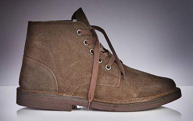Pánské hnědé kotníčkové boty Roamers