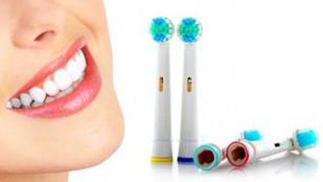Náhradní zubní kartáčky na ORAL-B univerzální - 4 ks