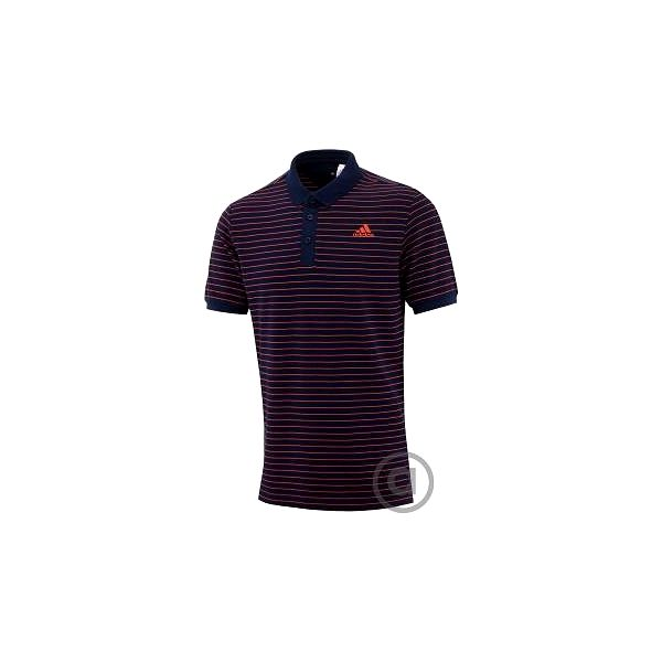 adidas SEASONAL ESSENTIALS YARN-DYE POLO modrá L