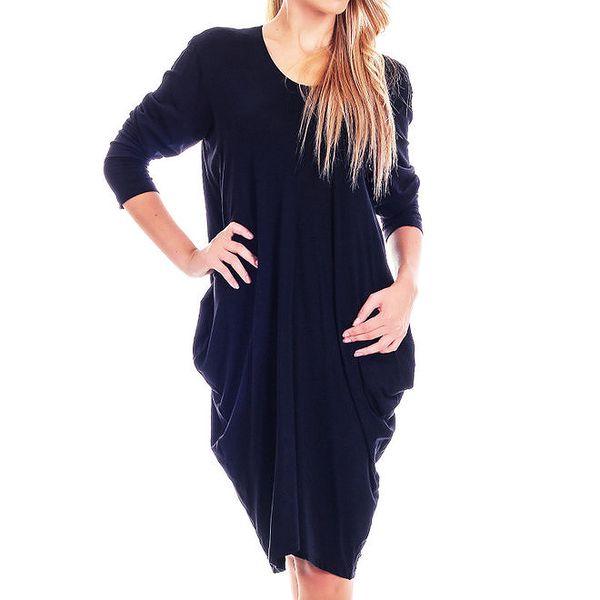Dámské černé volné šaty Berry Couture