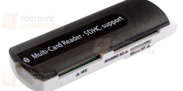 Univerzální čtečka paměťových karet do USB, čte SD/MMC/RS-MMC/MiniSD/TF/MS/M2 a poštovné ZDARMA s dodáním do 3 dnů! - 28713696