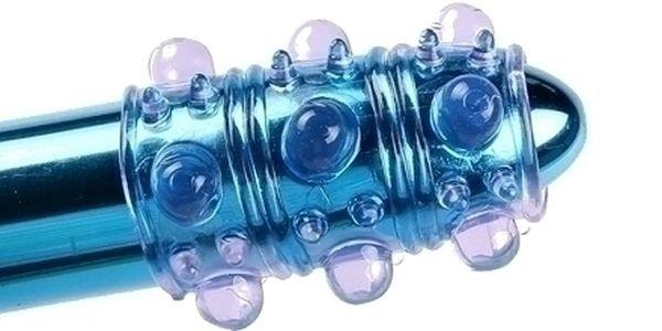 Průhledný návlek na penis BUBBLE plný bublinkových...