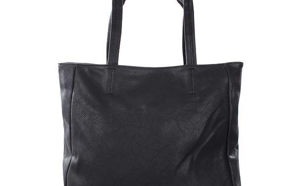 Dámská černá kabelka se cvočky a krystalky London Fashion