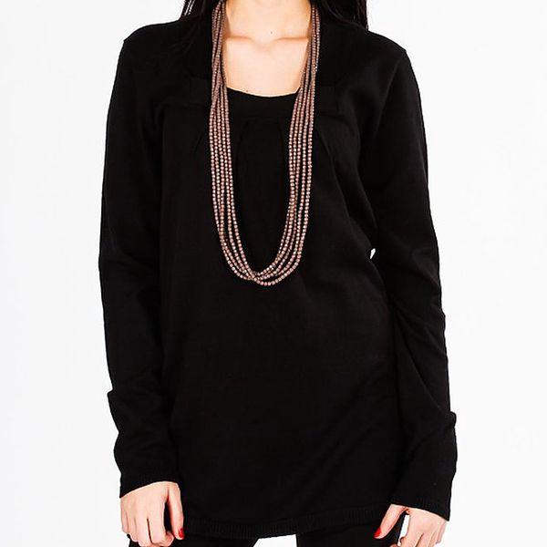 Dámský černý dlouhý lehký svetr Emma Pernelle