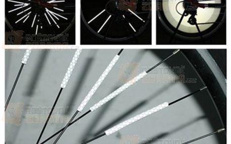 Reflexní trubičky na výplet kola - 12 kusů v balení a poštovné ZDARMA! - 28413765