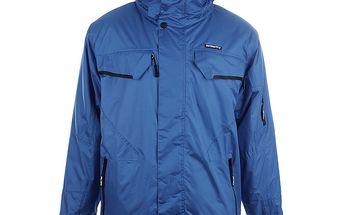 Pánská modrá lyžařská bunda s kapucí Authority