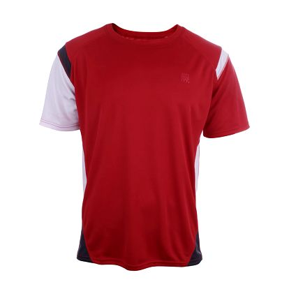 Pánské červené tričko s bílým rukávem Authority