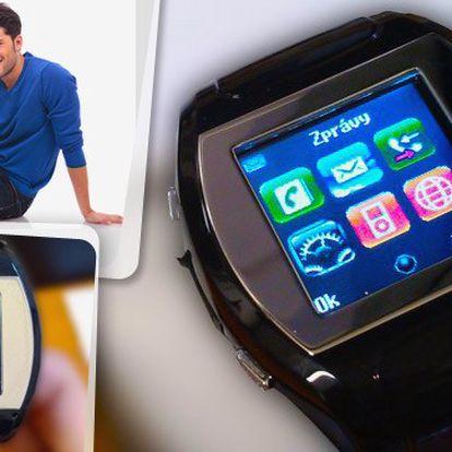 Stylový telefon v hodinkách