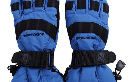 Modré rukavice s černými prvky Authority