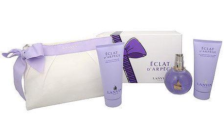 Lanvin Eclat D´Arpege - parfémová voda s rozprašovačem 100 ml + sprchový gel 100 ml + tělové mléko 100 ml +