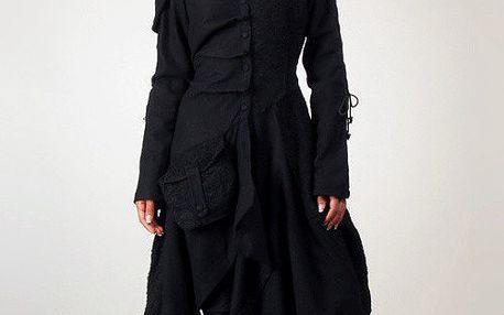 Dámský černý kabát Angels Never Die