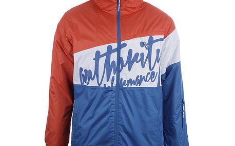 Pánská lyžařská bunda s modrým nápisem Authority