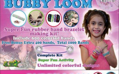 Loom bands gumičky sada BUBBY GIRL 1000 ks, stav, kompletní příslušenství BERGNER DV-3