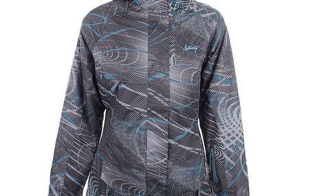Dámská šedá lyžařská bunda s tyrkysovými prvky Authority
