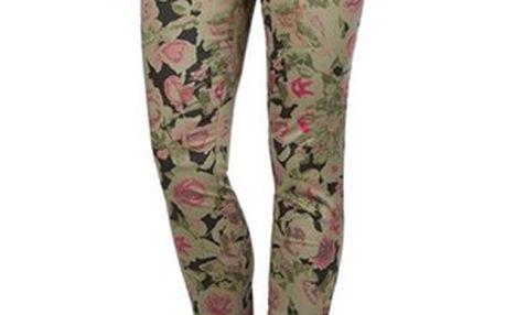 Kalhoty, khaki, růžová