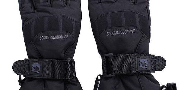 Černé lyžařské rukavice s membránou Authority