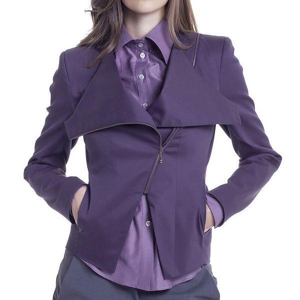 Dámská krátká fialová bundička Lora Gene