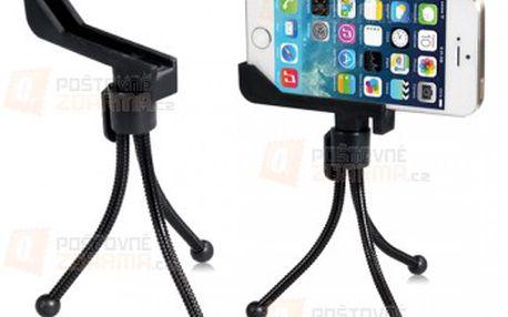 Flexibilní stativ na telefon - vhodné pro iPhone 5 nebo 5S - 2 barvy a poštovné ZDARMA! - 28713894