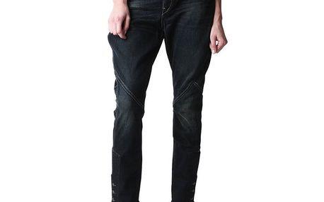 Dámské tmavě modré džíny s iniciálami výrobce Replay