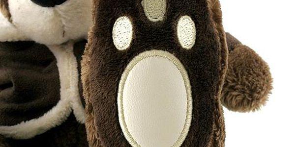 Teddy Big Foot Medvídek 13cm v hnědém kabátku, TBF3