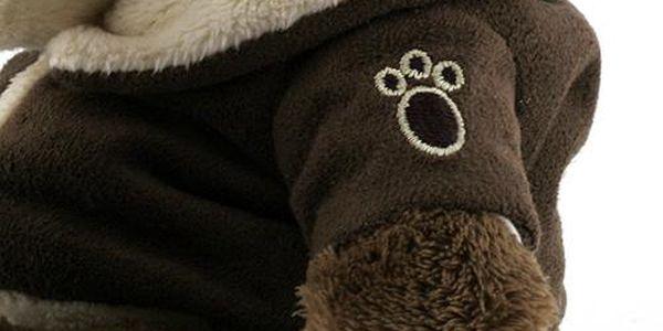 Teddy Big Foot Medvídek 13cm v hnědém kabátku, TBF4