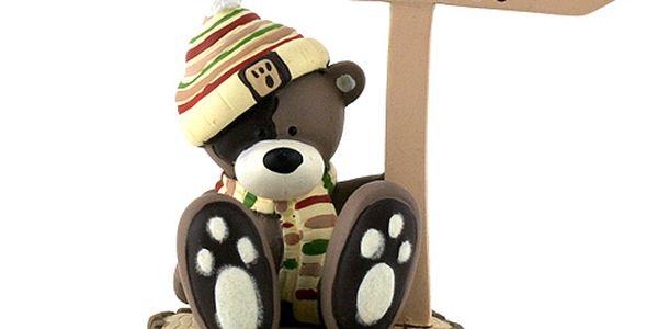 Teddy Big Foot Dárkový set Teddy Bigfoot Dárkový set fotostojánek, těžítko, medvídek 7cm, TBF5
