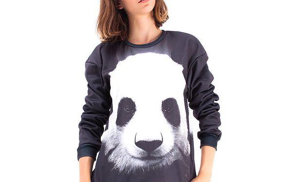Dámský černý svetr s pandou Mr. GUGU & Ms. GO