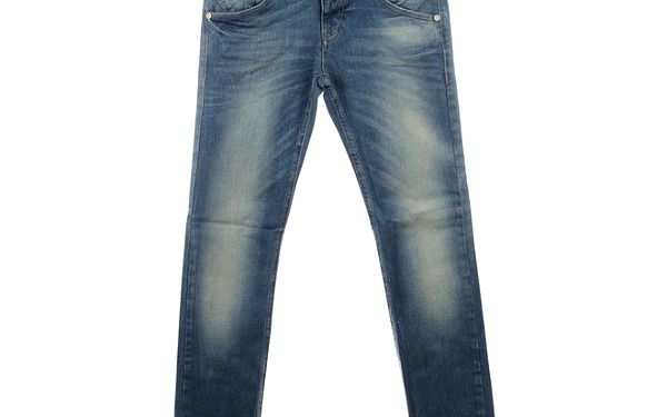 Dámské modré džíny místy vyšisované Fuga