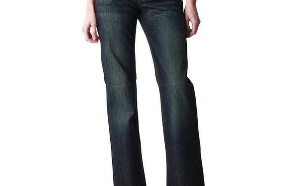 Dámské široké tmavomodré džíny Replay