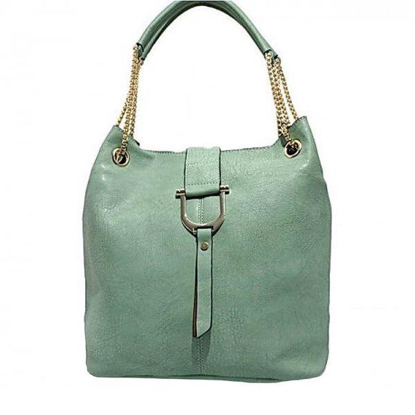 Dámská zelená kabelka s řetízkovými poutky Bessie