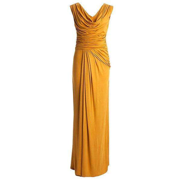 Dámské šafránově žluté dlouhé šaty CeMe London