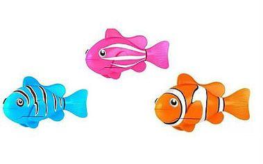 Hravé a barevné robotické rybičky do vany či akvárka