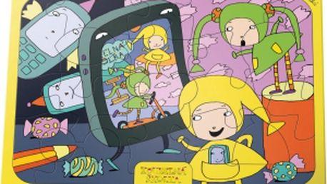 Kouzelná školka - puzzle A4, 24 dílků